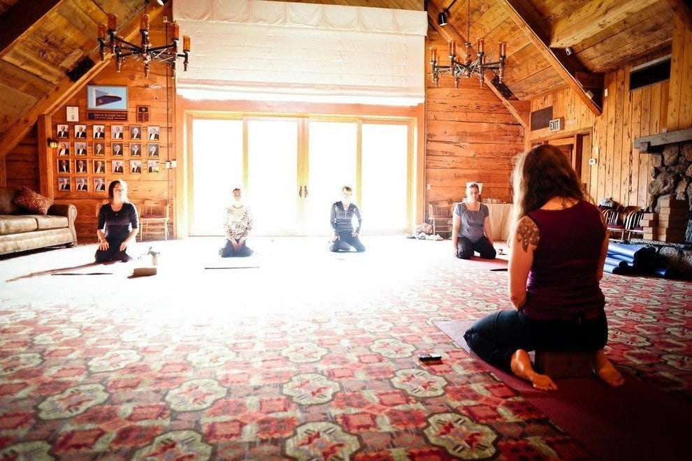 The Granlibakken is a cozy place for a fall yoga practice