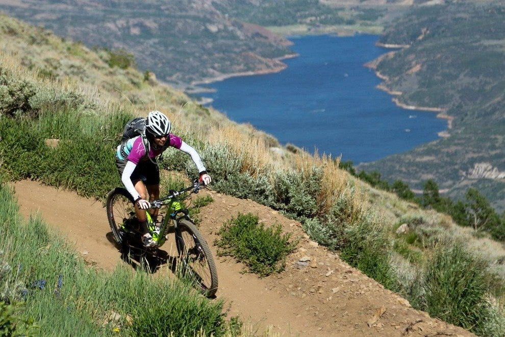 Park City bicyclists enjoy great views in Deer Valley