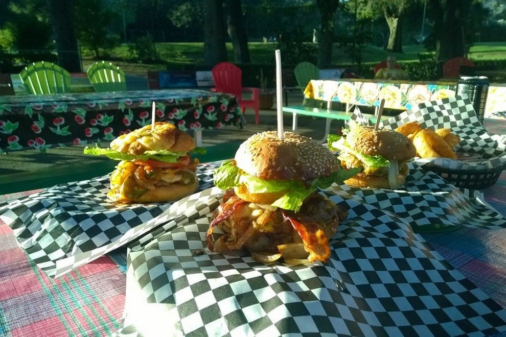 Which burger will you choose at Tee's on the Green? They are all delicious!