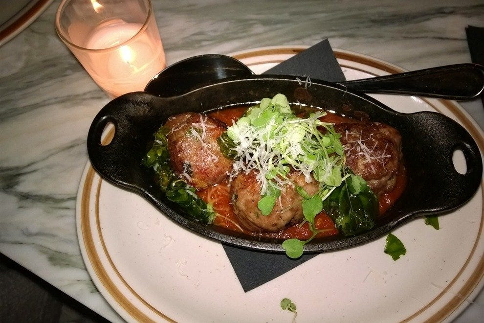 Spicy meatballs are fantastic!