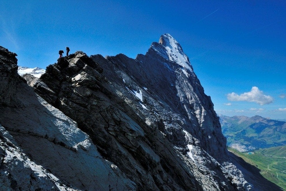 Climbing The Eiger Mountain