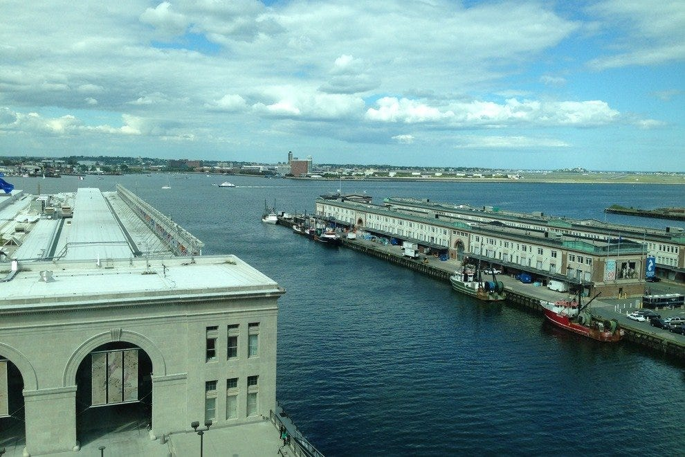 View from a Seaport Boston Hotel guest room