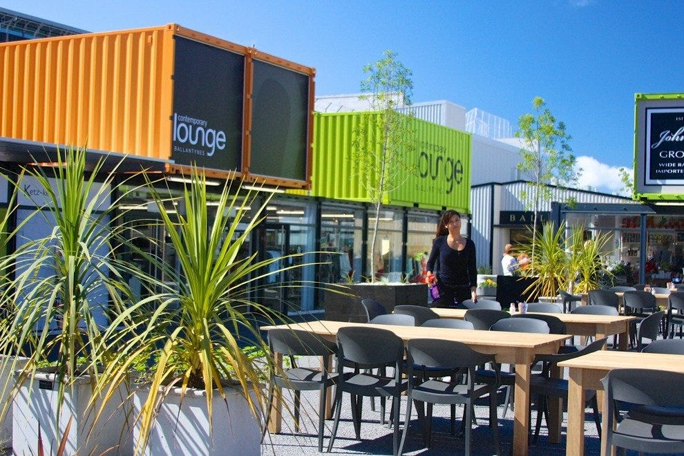 Christchurch's downtown is lively with pop-up coffee houses, stores, bars and restaurants.