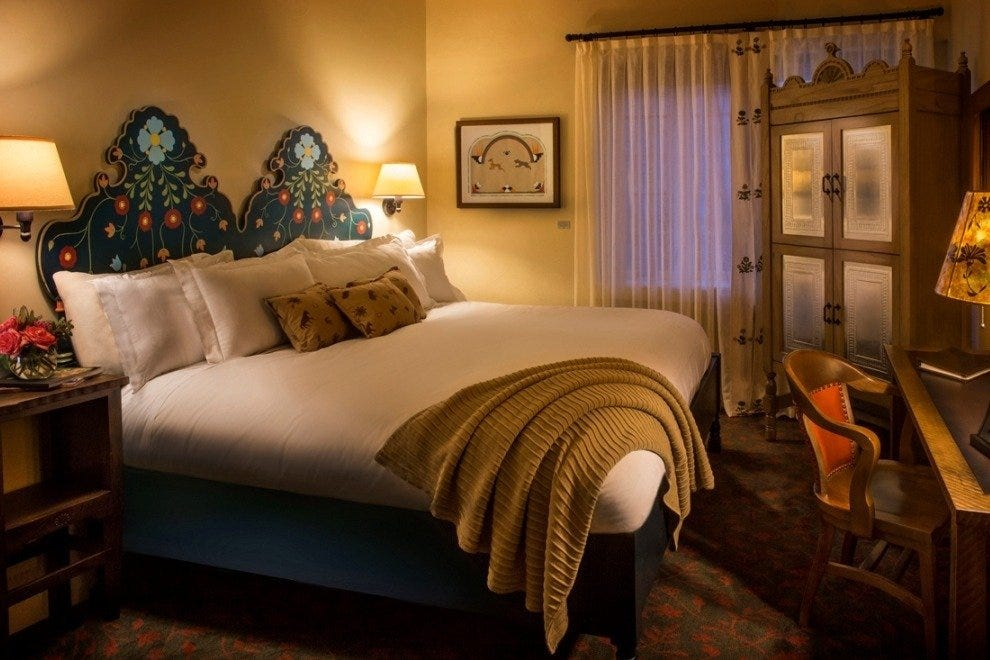 La Fonda on the Plaza's redone traditional bedrooms are inviting