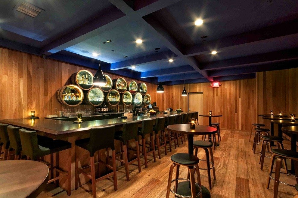 Grain whisky bar, the back room speakeasy at Playa Provisions
