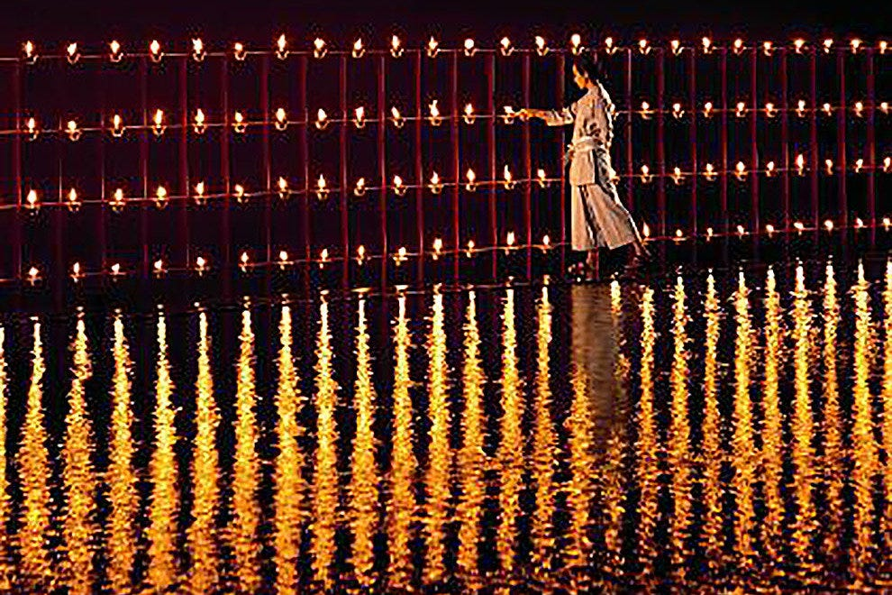 Floating on Candles at the Phulay Bay