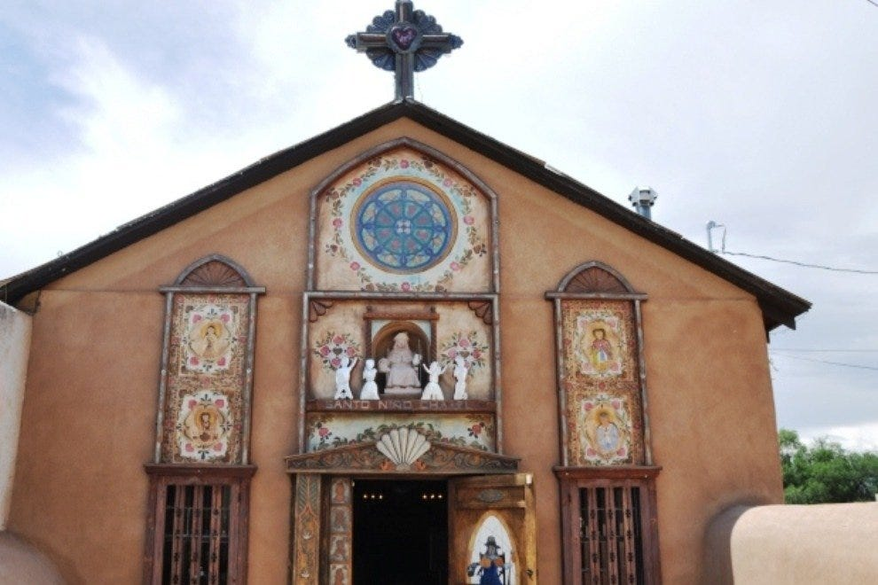 Chimayo's Santo Nino Chapel, where you'll discover offerings of children's shoes