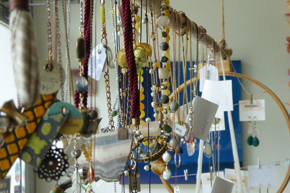 Lady Bird is the owner's own line of handmade jewelry, available at One Strange Bird