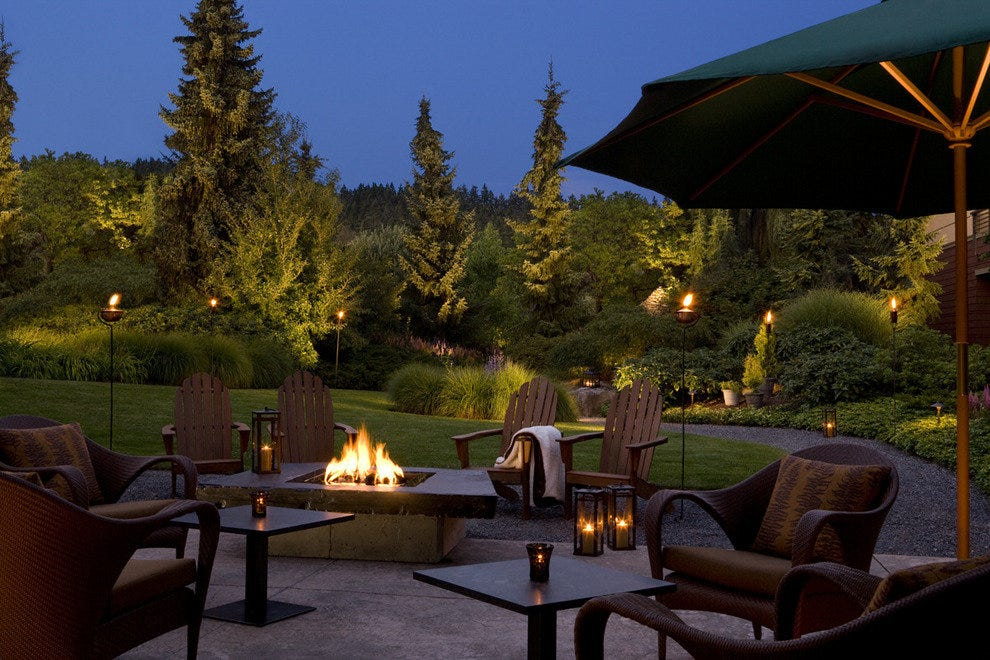 Fire pits create a magical ambiance on the back patio