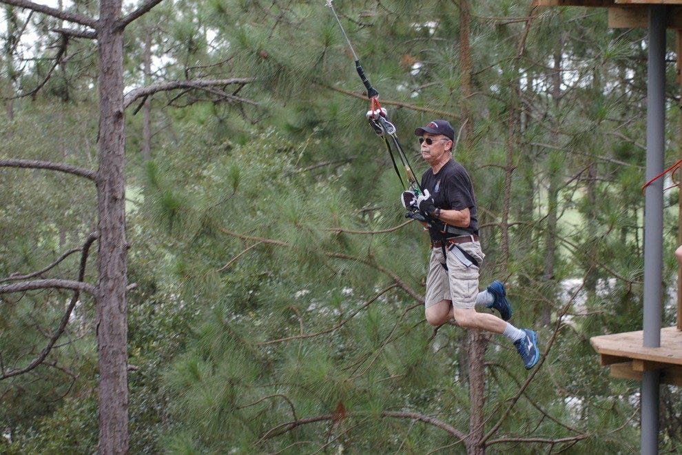 Play Tarzan or Jane at Go Ape Treetop Adventure