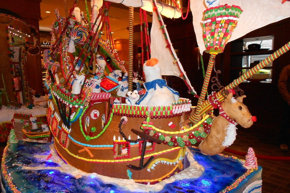 Gingerbread Village at the Seattle Sheraton Hotel