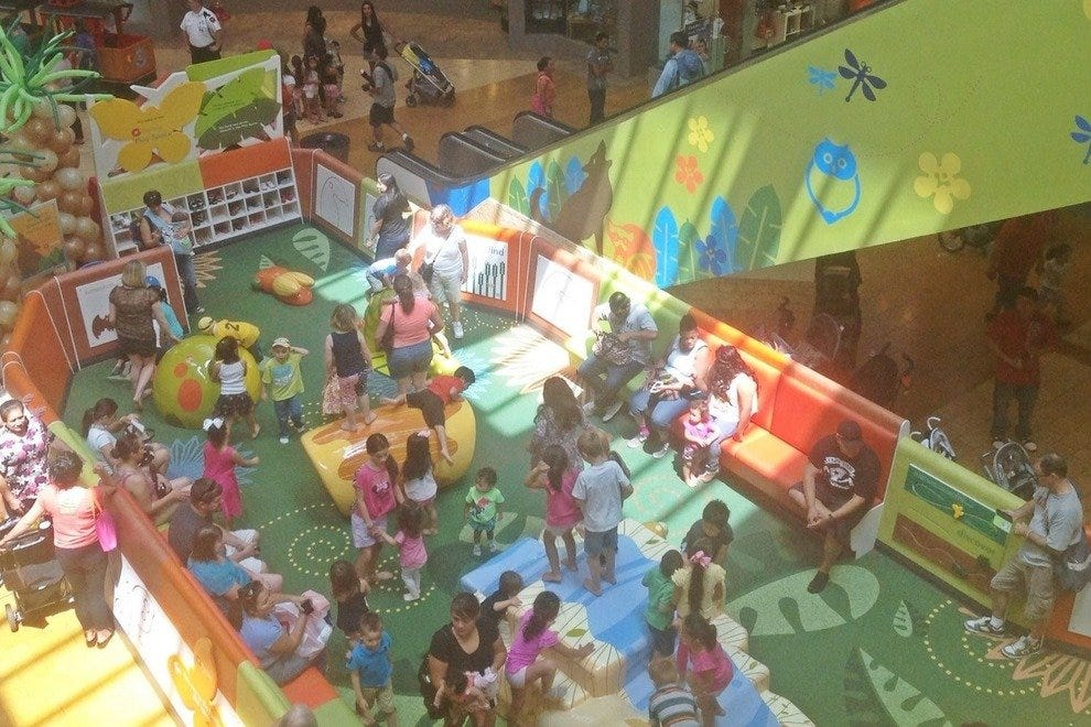 The new play area at Westfield Palm Desert