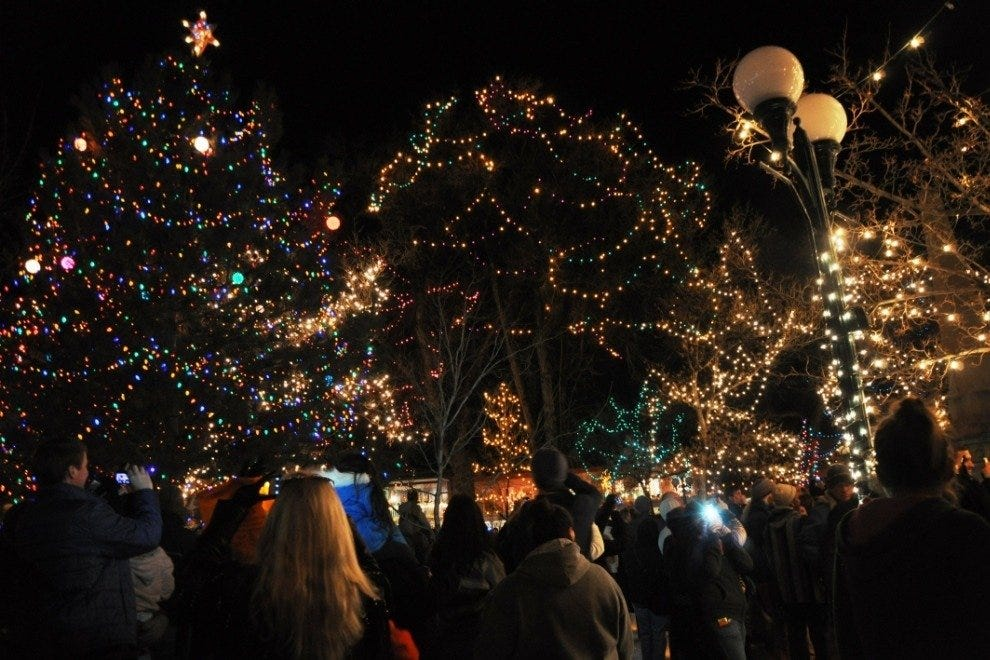 Lighting of Christmas Decorations on Santa fe Plaza