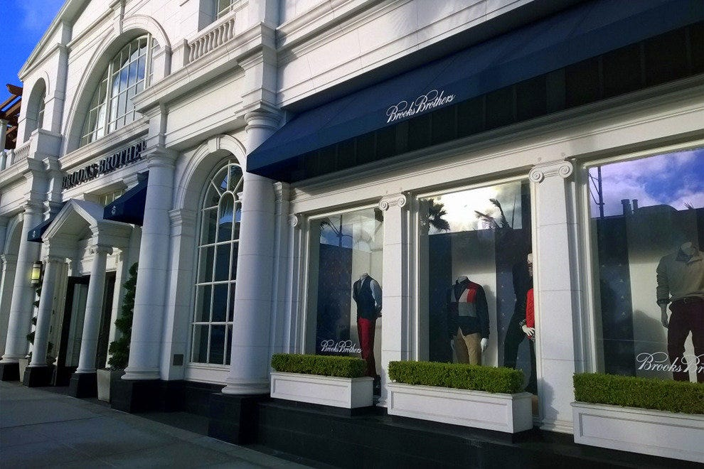 Brooks Brothers, located on Rodeo Drive, is nearly 100 years old; they offer clothing for your entire clan