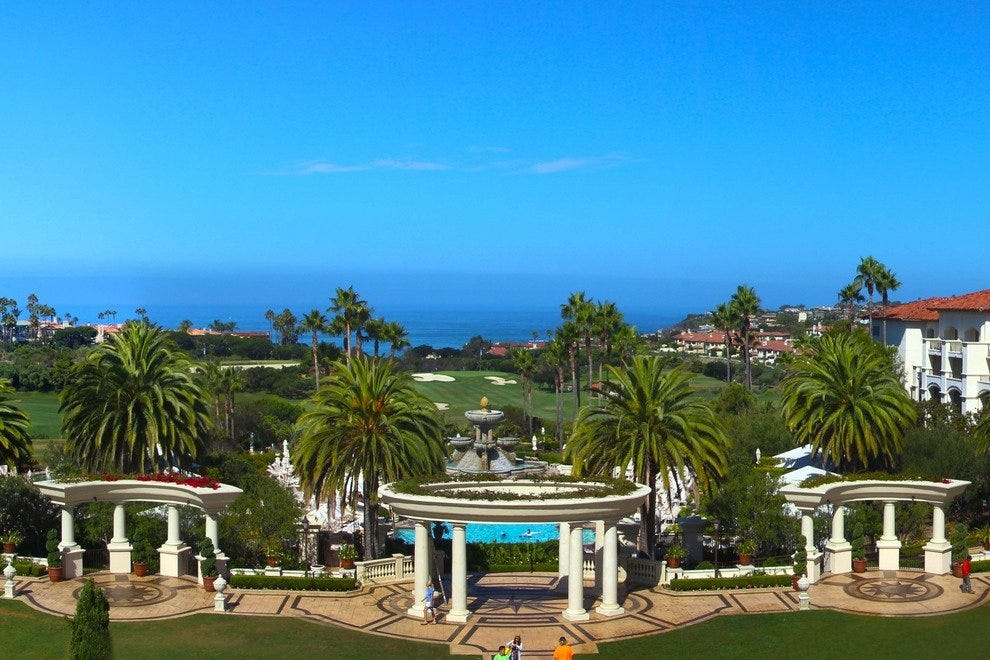 The St. Regis Monarch Beach Resort offers majestic views on the Pacific Ocean.