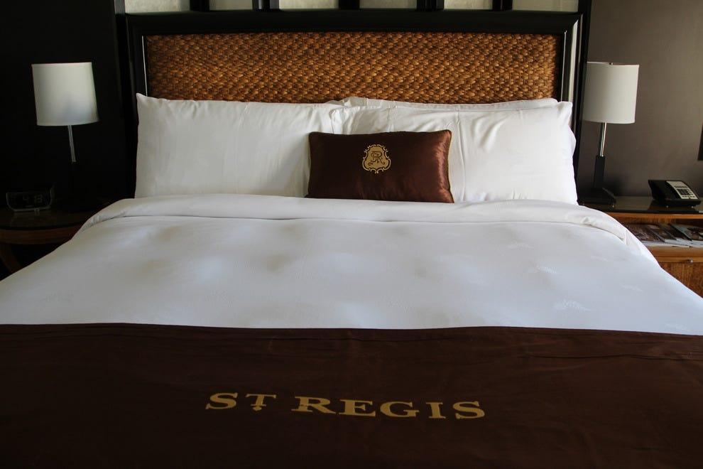 Wrap yourself in luxury bedding at the St. Regis Monarch Beach Resort.