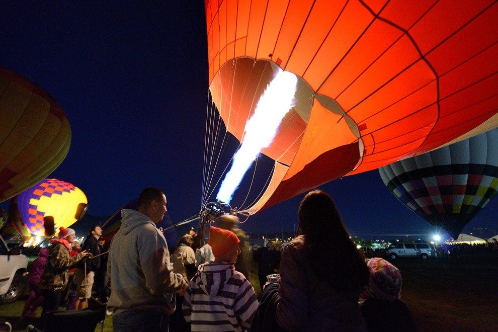 The 43rd annual Albuquerque International Balloon Fiesta takes to the brilliant turquoise skies of Albuquerque, New Mexico, Oct. 4 through 12, 2014. The world's largest continuous balloon festival began in 1971 with a birthday party thrown by creator Sid