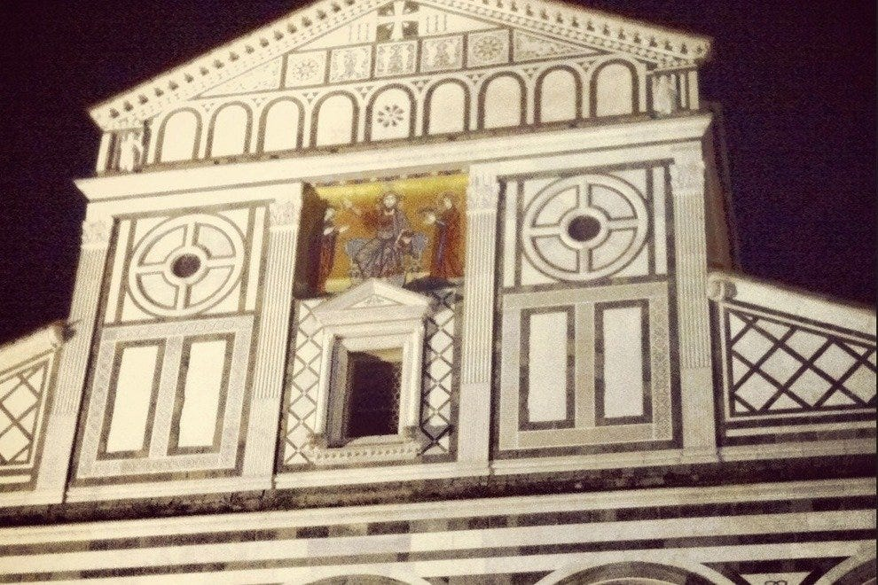 The facade of San Miniato