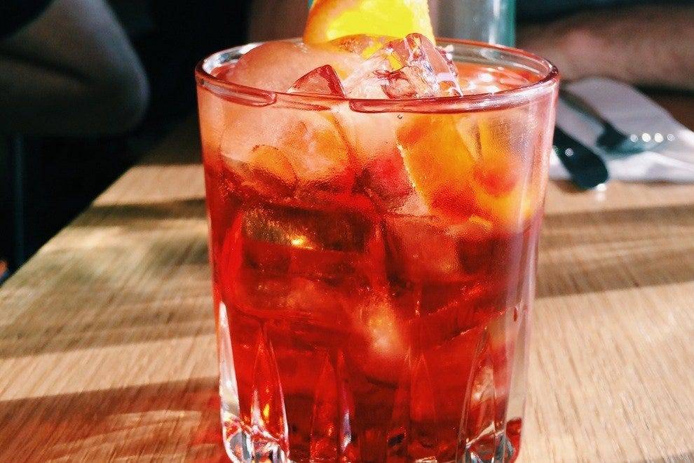 A Negroni is a delicious, bitter fall cocktail.