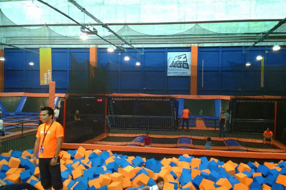Cancun's family-friendly attraction Sky Zone is for all ages