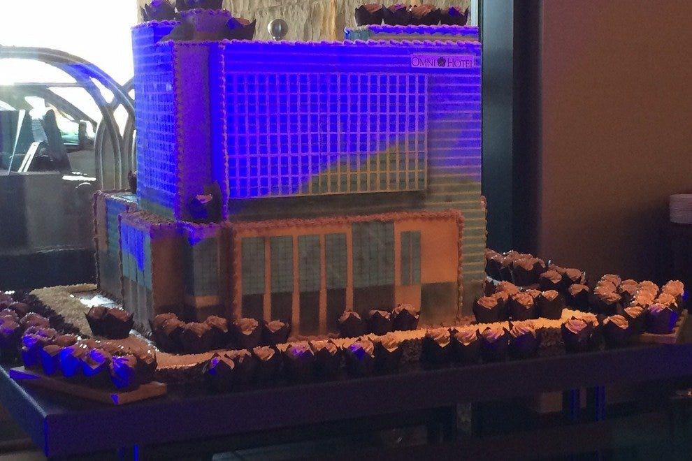 The Omni Nashville birthday cake