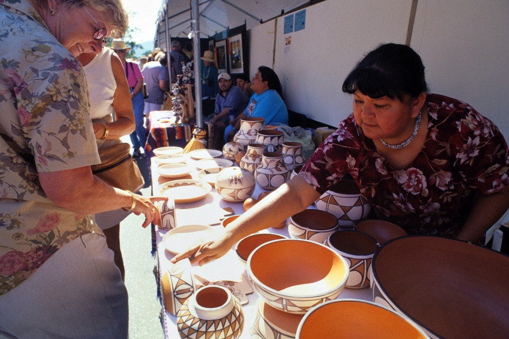 Find Native American art at the Santa Fe Indian Market