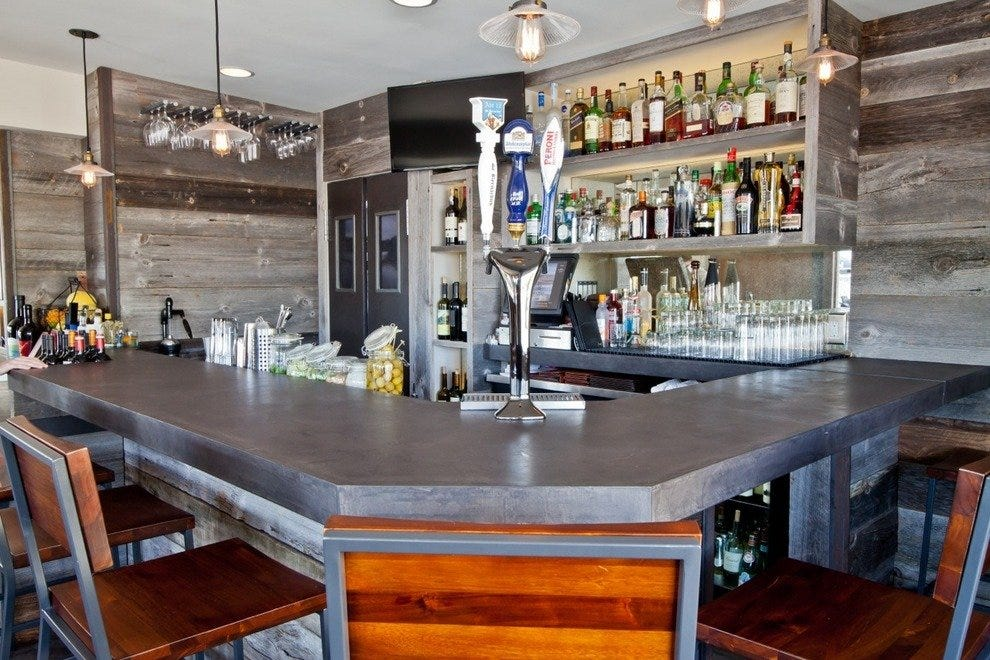 Malibu wines are featured at V's Restaurant & Bar on Pacific Coast Highway
