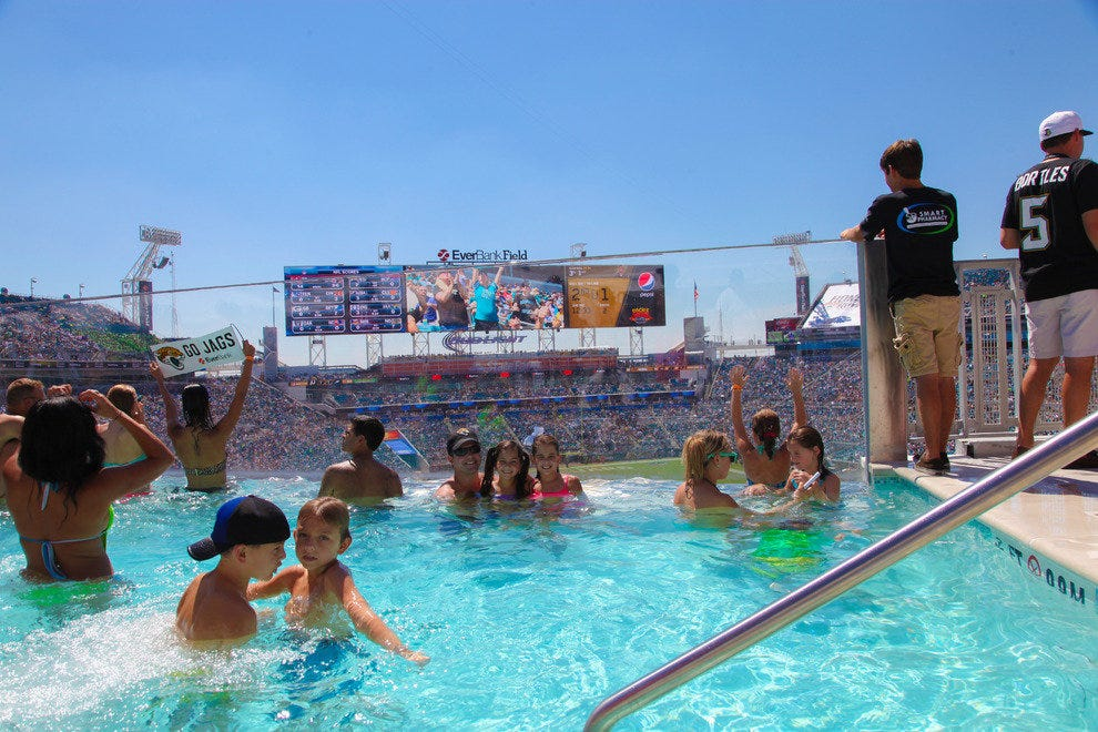 Jacksonville Jaguars Make A Splash With Festive Game Day Experience Attractions Article By