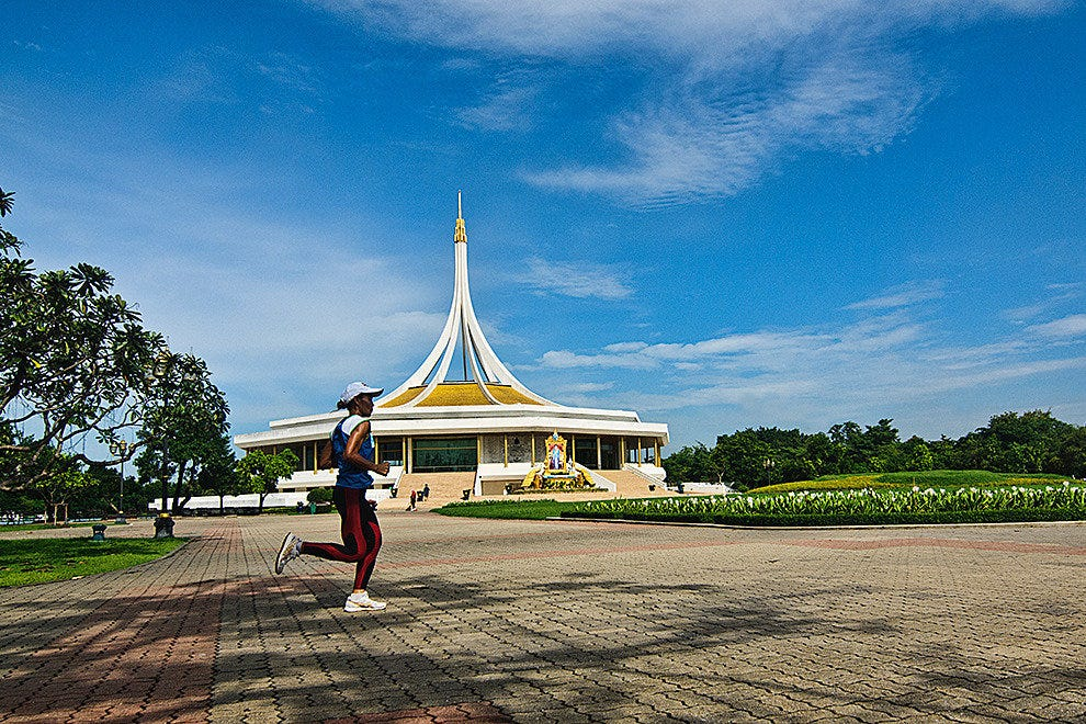 Getting exercise in Rama IX Park