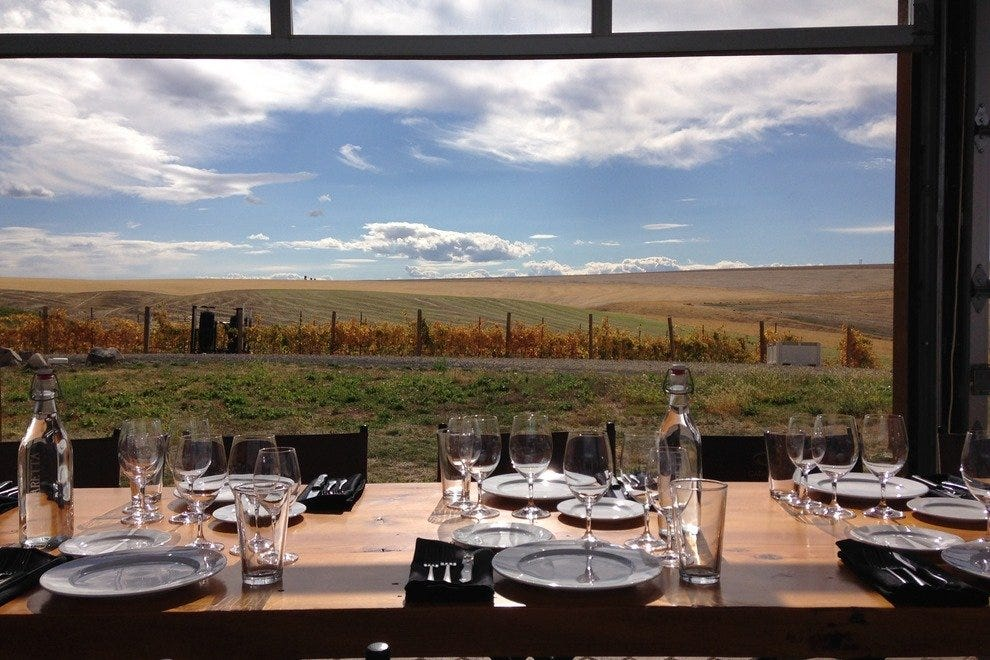 Life is good at Cadaretta Wines' glass house overlooking the Walla Walla Valley.