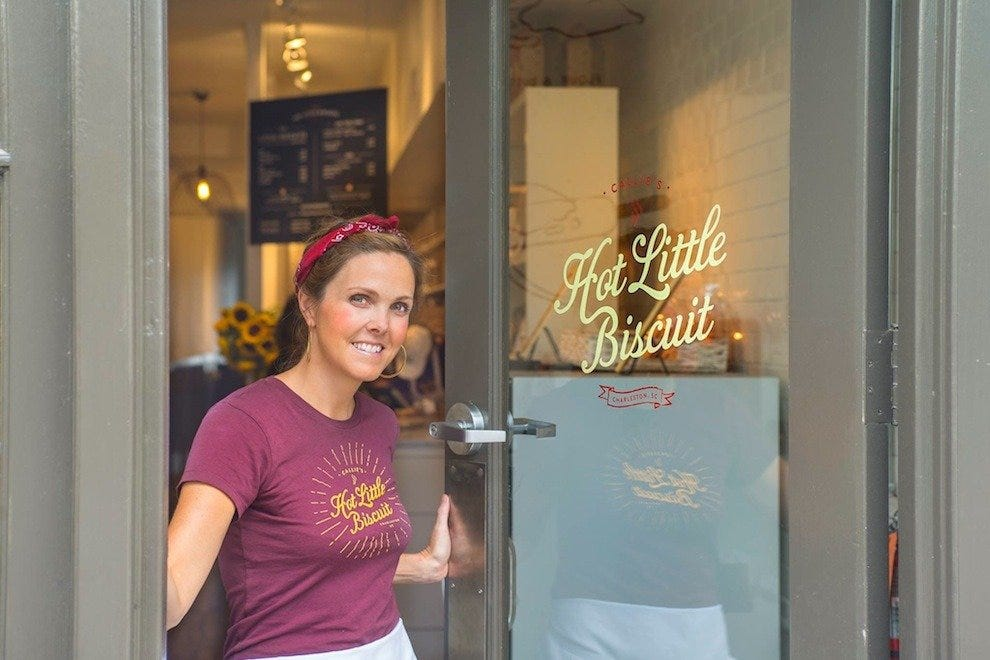 Carrie Morey, owner of Callie's Hot Little Biscuit and daughter of Callie