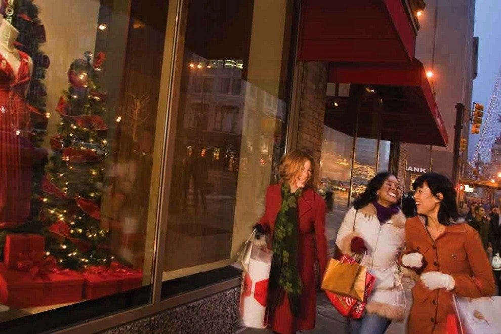 Shopping in downtown Indianapolis is a holiday tradition