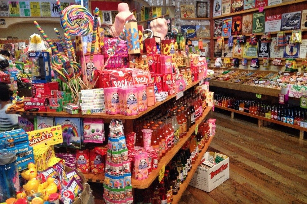 At Rocket Fizz, they've got sugary sweets as far as the eye can see . . .