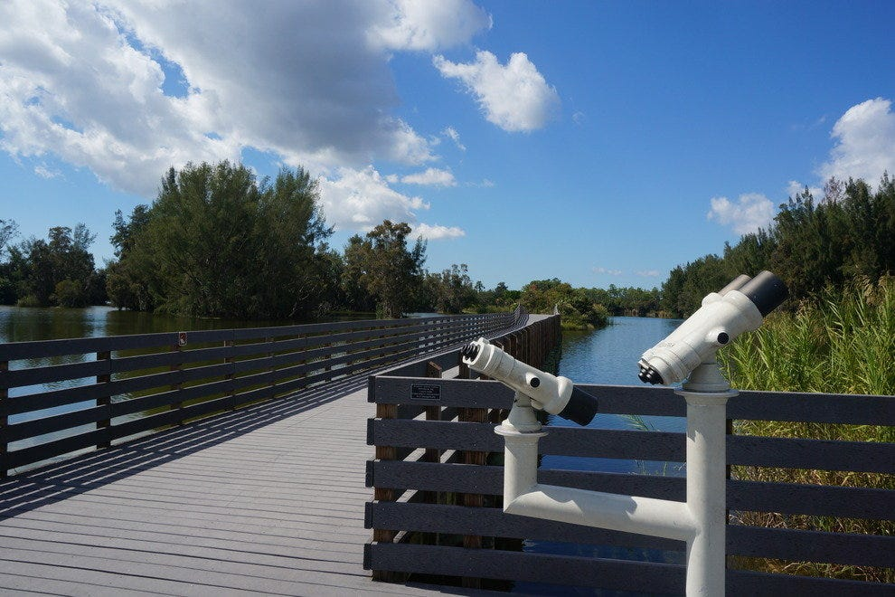 Observation equipment is perfect for birding and spotting other wildlife in the park