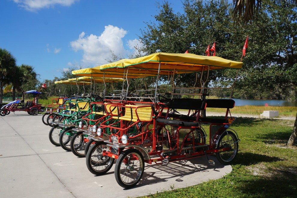 Bike and boat rentals are fun for exploring the park