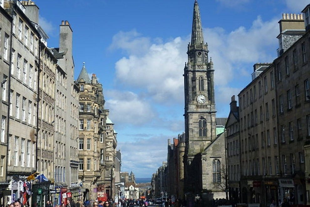 Edinburgh's Royal Mile, perhaps a stop along your holiday shopping journey