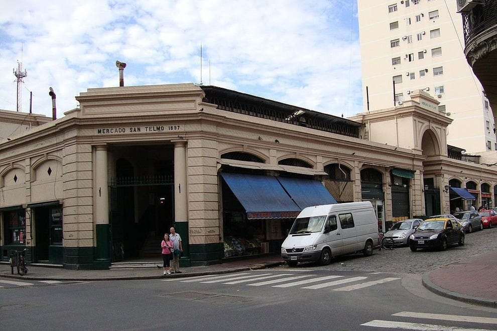 The exterior of San Telmo Market