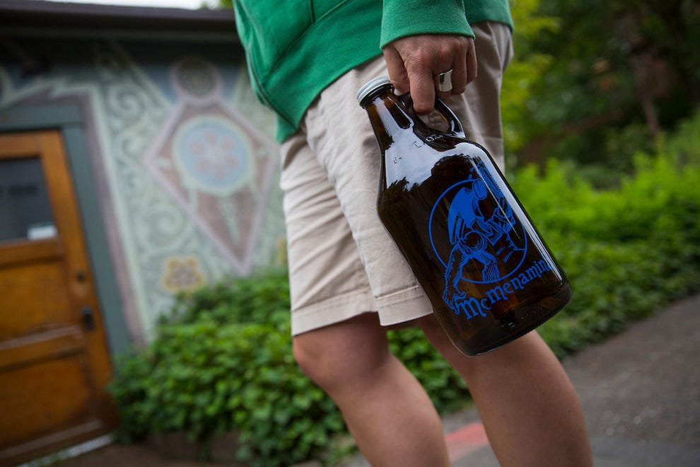 Buy a growler at McMenamin's and drink it anywhere on the property.