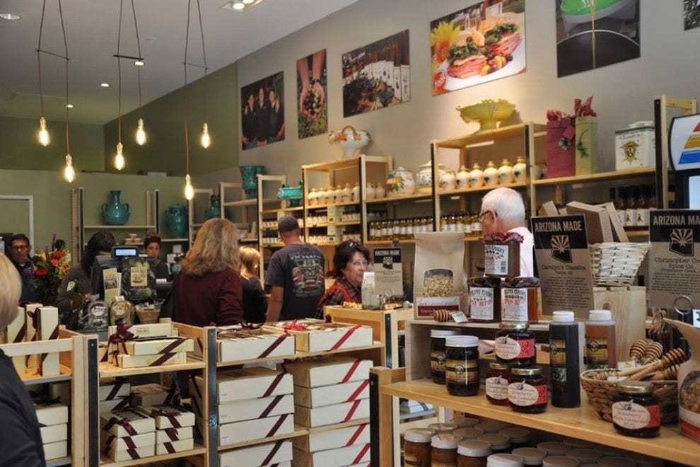 Union at Biltmore Fashion Park is home to dozens of independently owned specialty shops, including the Queen Creek Olive Mill store