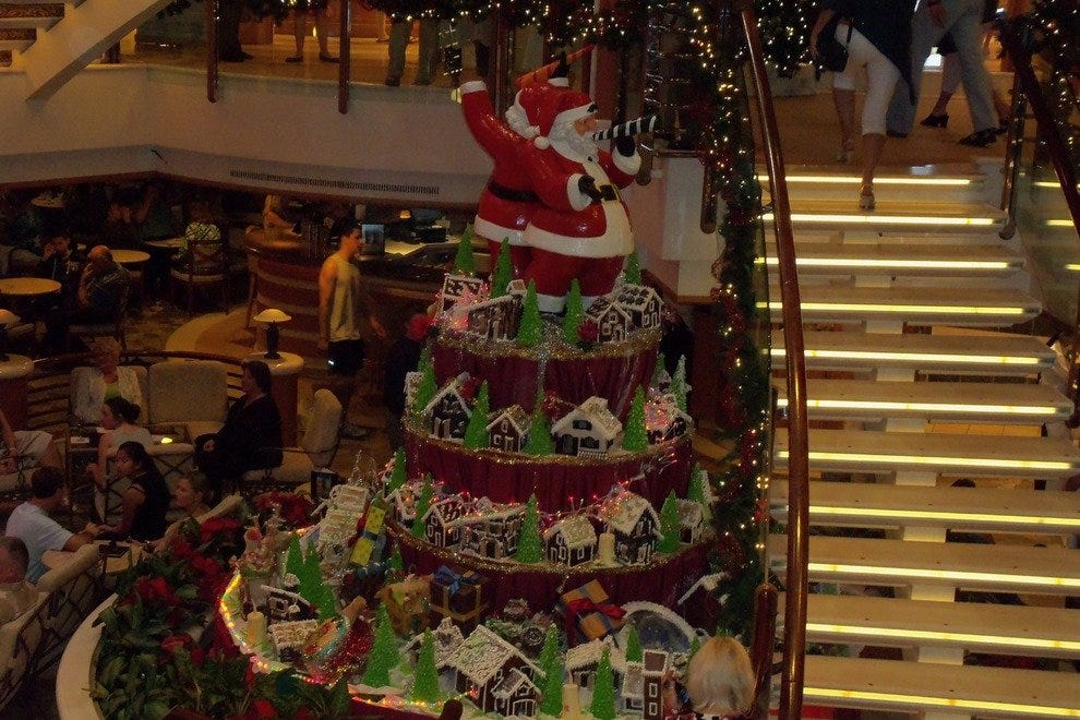 Enjoy the winter holidays aboard a cruise ship.