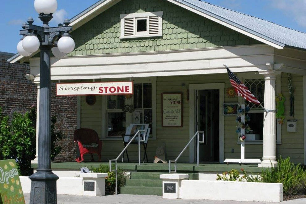 The Singing Stone Gallery is located in Tampa's historic district, Ybor City