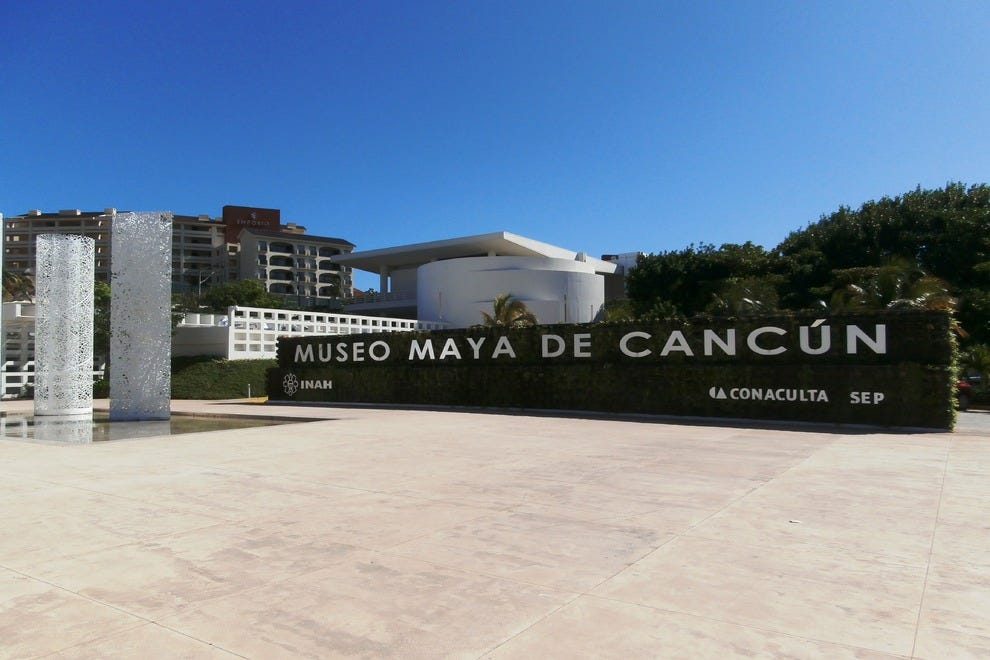 Museo Maya de Cancun is located at kilometer 16.5, across the street from Captain's Cove restaurant