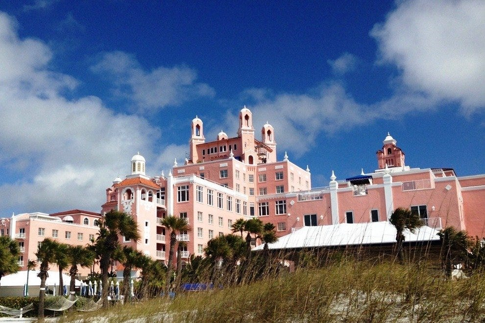 The Loews Don Cesar is known as the Pink Palace