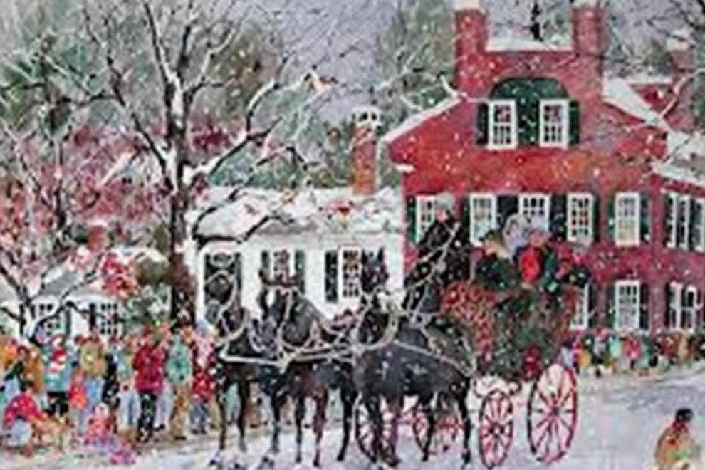 A sleigh ride through Woodstock is a charming way to start your romantic getaway