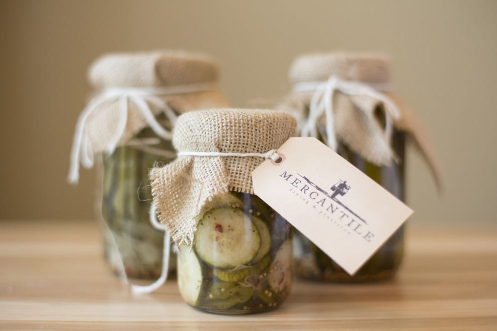 Preserves and other goodies are made at the restaurant or brought from the farm, sold in old-school canning jars just like the ones used for generations across America