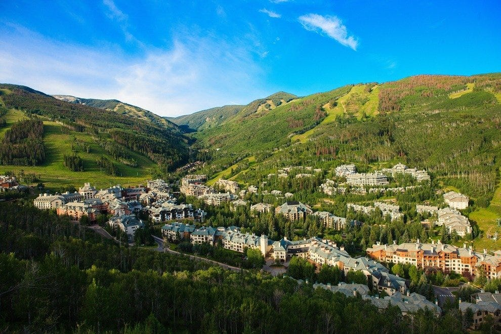Beaver Creek Village is set in a valley.