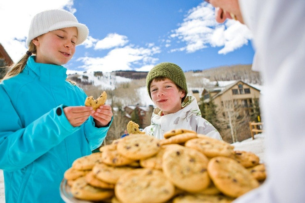 Who can resist free, fresh-baked cookies daily at the Beaver Creek Resort?