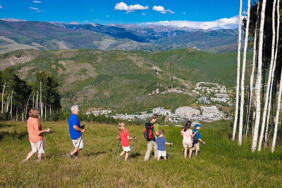 Families can choose from hikes with varying levels of difficulty.
