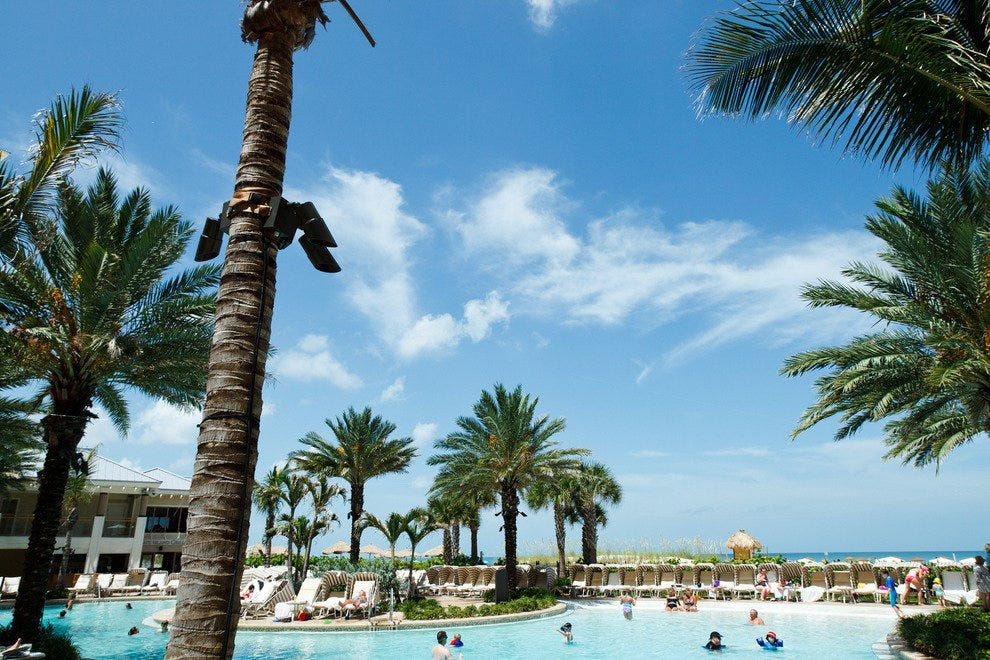 Pool or Clearwater Beach, both are gorgeous at the Sandpearl Resort.