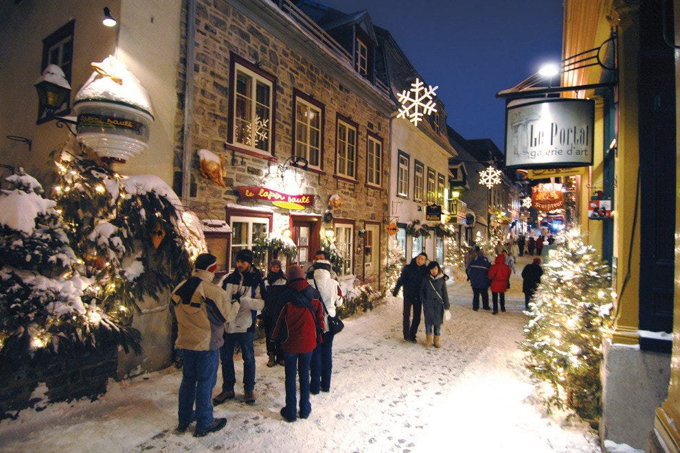 Snowy scene in Old Quebec